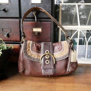 Coach Limited Edition Stitched Leather Flap Bag